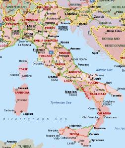 mapa itália