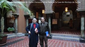 Duran Clemente e Moisés Cayetano na Casa do Alentejo