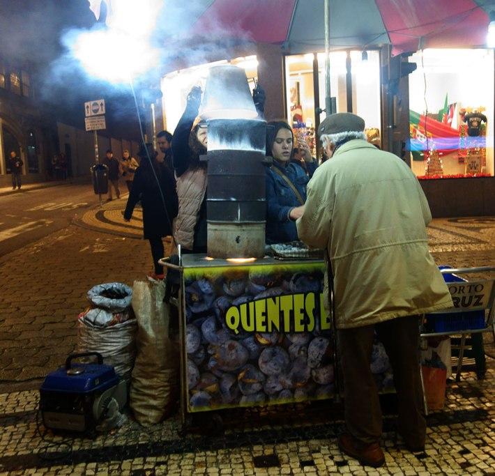 A castanha assada na Rua de Santa Catarina