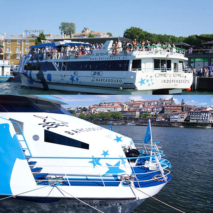 O Catamarã INDEPENDÊNCIA remodelado e com as cores da BARCADOURO