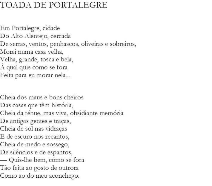 Toada de Portalegre - I