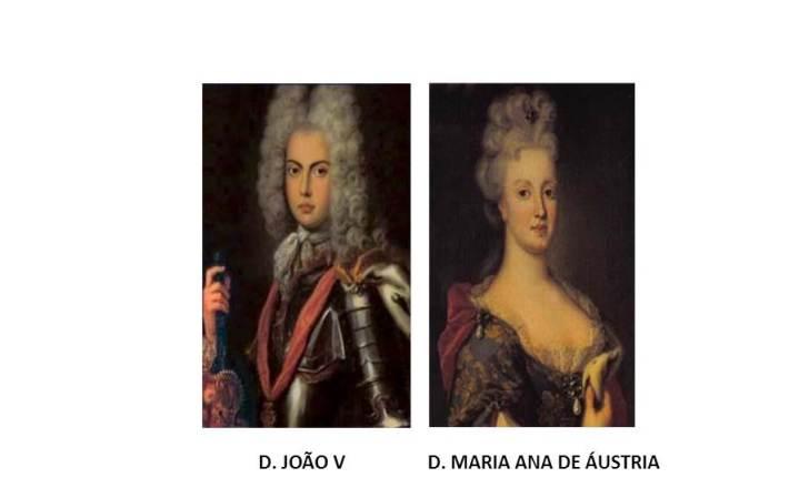 D. João V e D. Maria Ana de Áustria