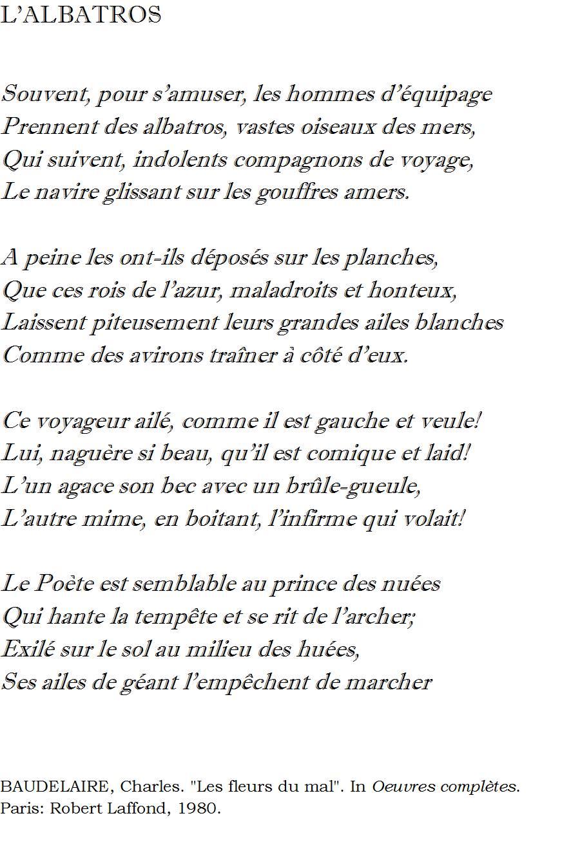 Lalbatros De Charles Baudelaire Tradução De Guilherme
