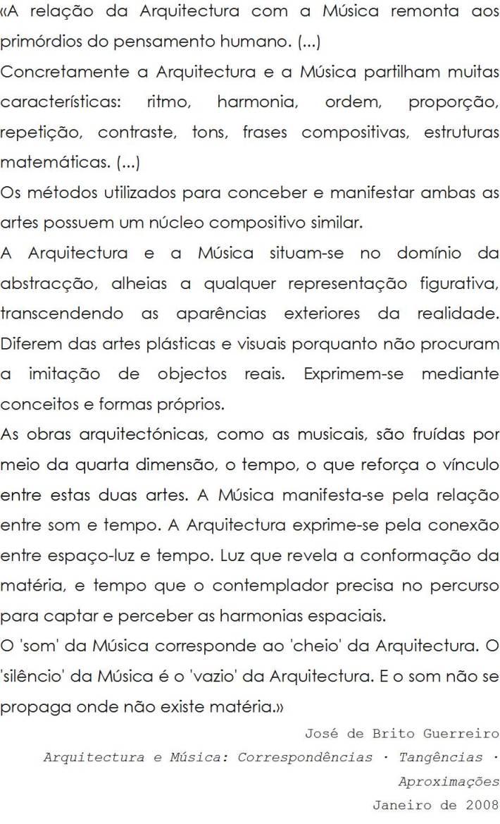 Arquitectura e Música