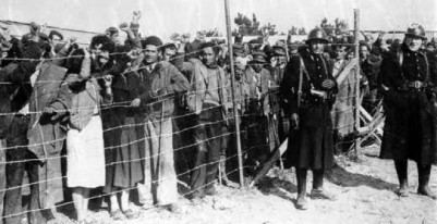 Refugiados españoles en el campo de internamiento de Argelés-Sur-Mer
