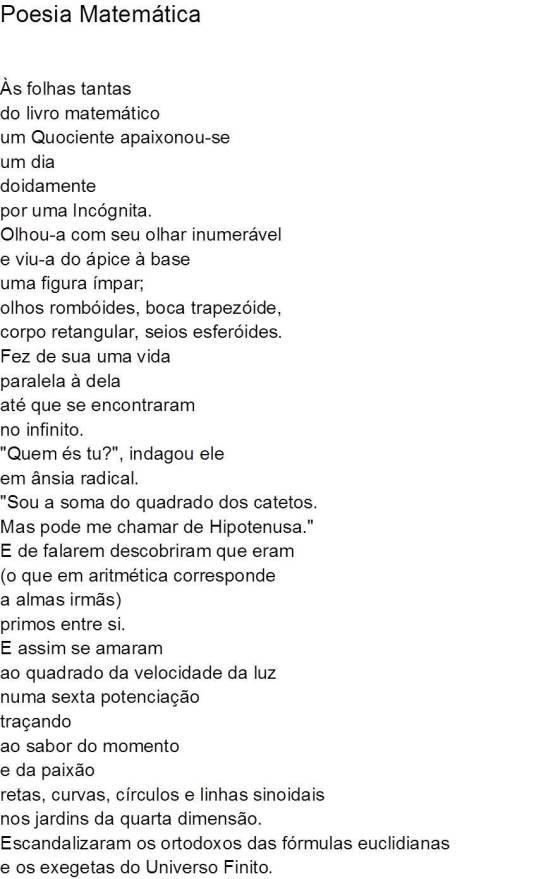 Poesia Matemática - I