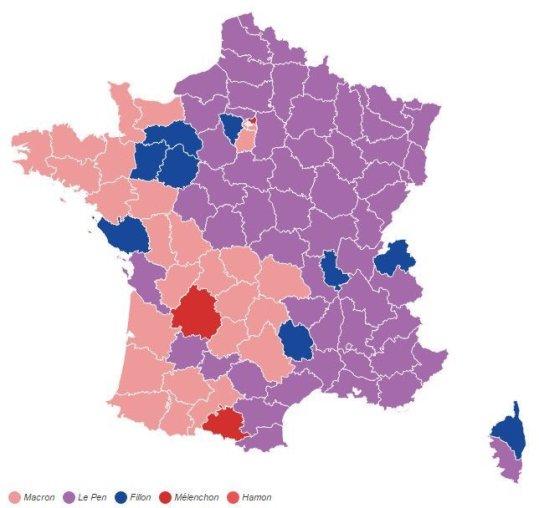 França eleicoes volta1 resultados departamentos