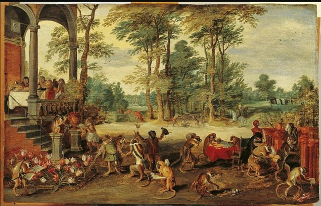 Jan Brueghel the Younger Satire on Tulip Mania c 1640