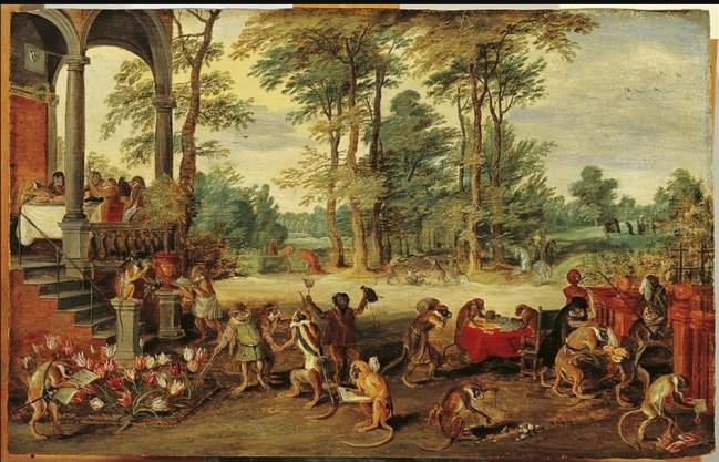 Jan Brueghel the Younger Satire on Tulip Mania c 1640