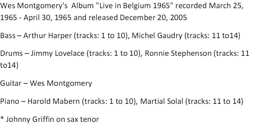 Wes Montgomery - Live in Belgium 1965