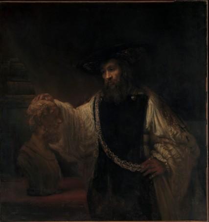 Rembrandt Aristóteles Homero