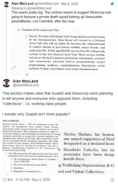 115 O contrato dos mercenários de Guaidó sobre o venezuelano Maduro reflete 3